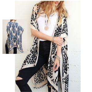 Sweaters - New! Beautiful Boho Print Kimono